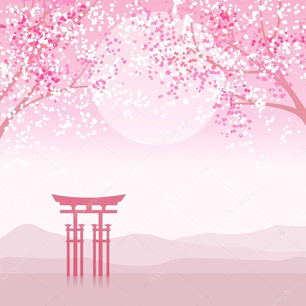 Japanese animation landscape.