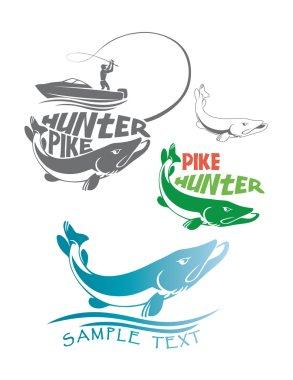 Pike fish logos