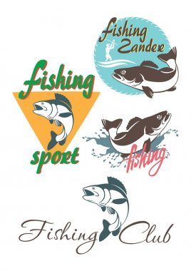 Perch fishing logos