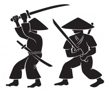 Samurai with weapon