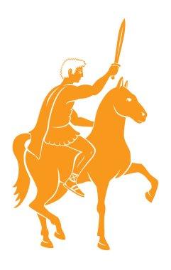 Caesar on horseback illustration