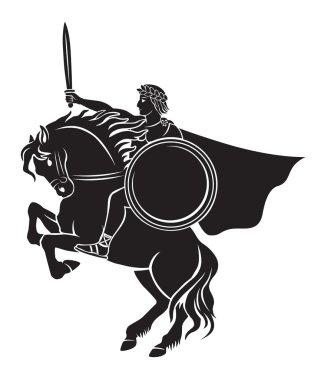 Caesar sitting on horseback