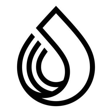 Water drop symbol, black sign for logo, vector illustration 10eps icon
