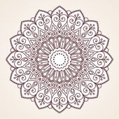Photo Ornamental round lace pattern.