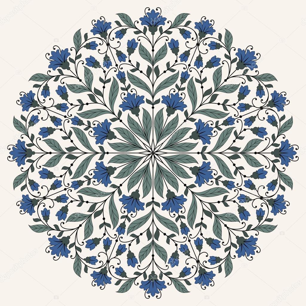 Ornamental round lace pattern.