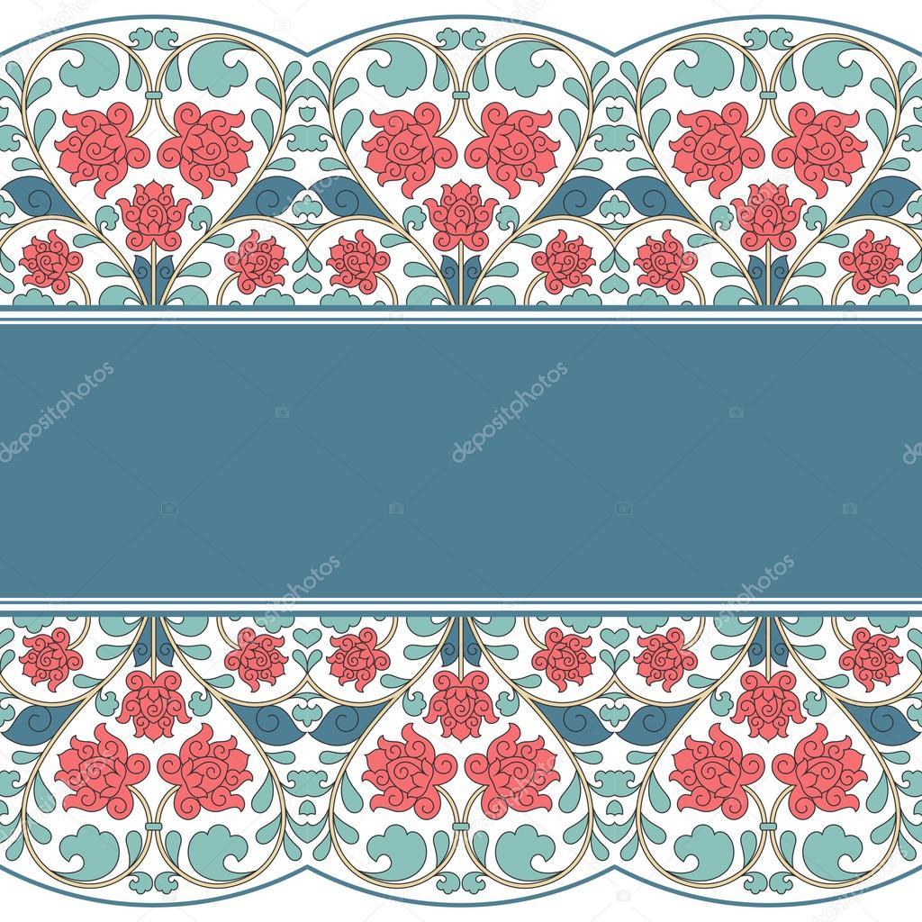 Floral oriental pattern in vintage style.