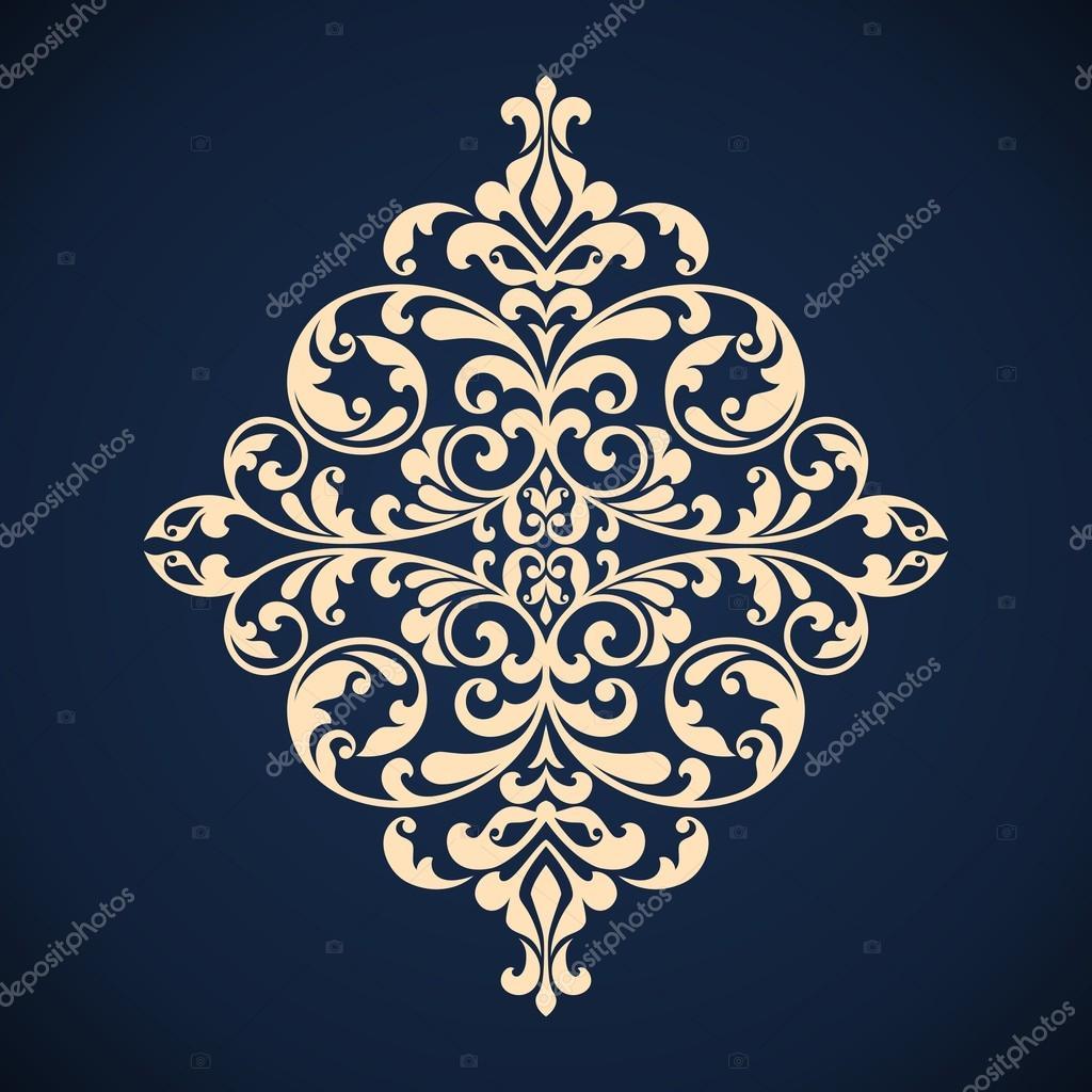 Ornamental floral element for design.