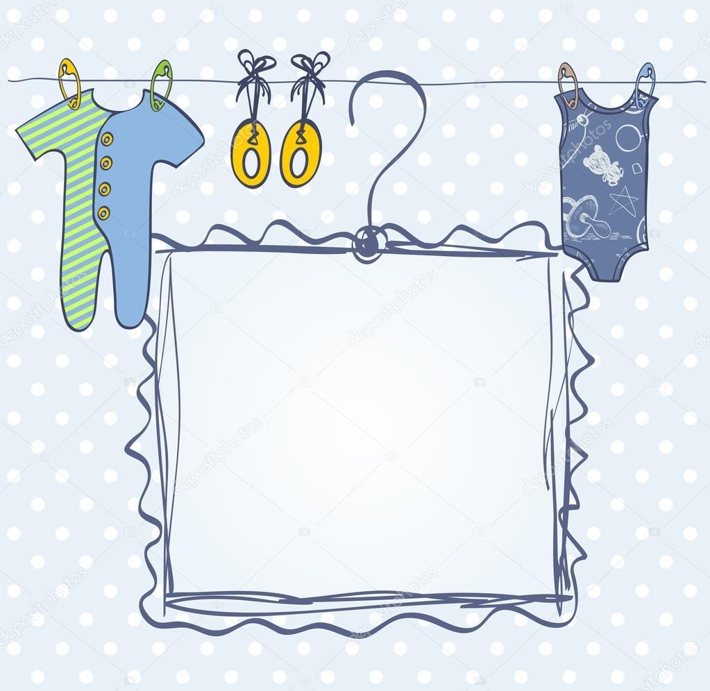 marco para recién nacido — Archivo Imágenes Vectoriales © pilipa ...