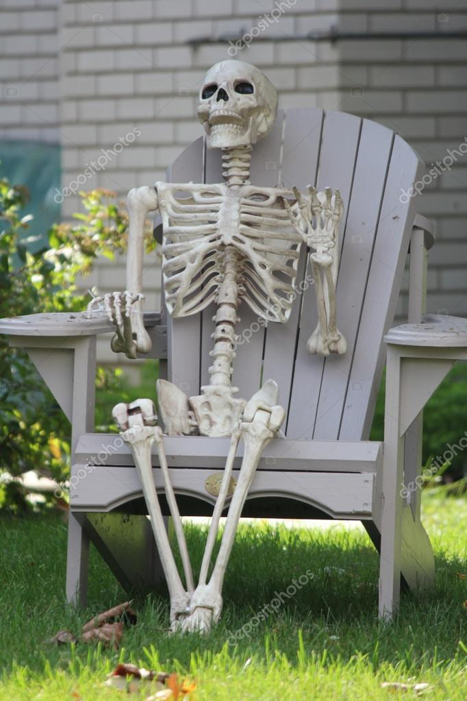 Image result for skeleton in chair