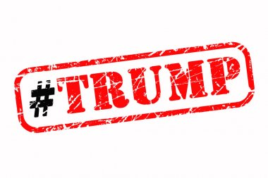 Donald Trump hashtag rubber stamp