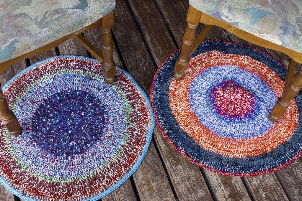 Dwa Kolorowe Dywany Ręcznie Robione Zdjęcie Stockowe