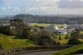 Fotografie Auckland Stadtlandschaft an einem stürmischen Wintertag