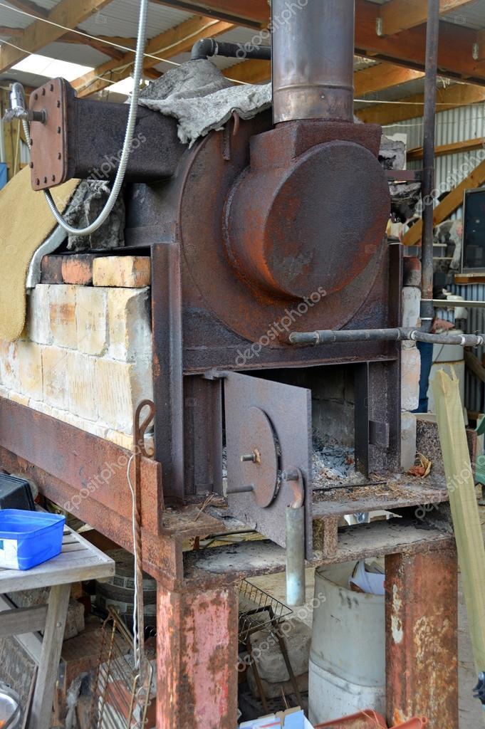Steam Boiler at Karamea Tea Tree Oil Factory New Zealand — Stock ...