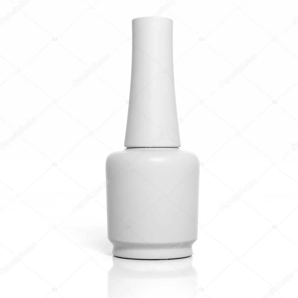 3D blank nail polish bottle mockup isolated on white — Stock Photo ...