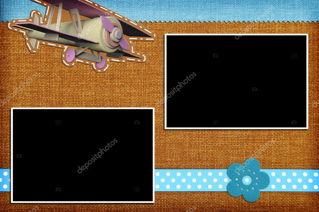 decorative template with photo frames scrapbook photobook concept photo by viperagp