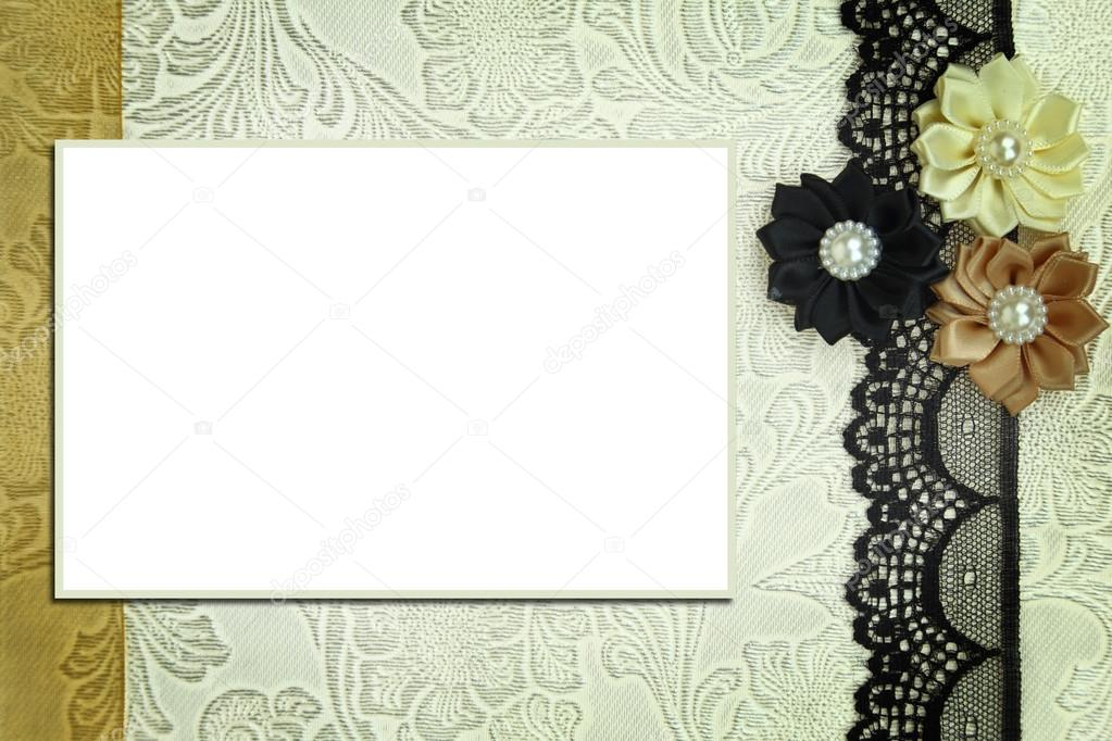decorative template with photo frame scrapbook photobook concept photo by viperagp