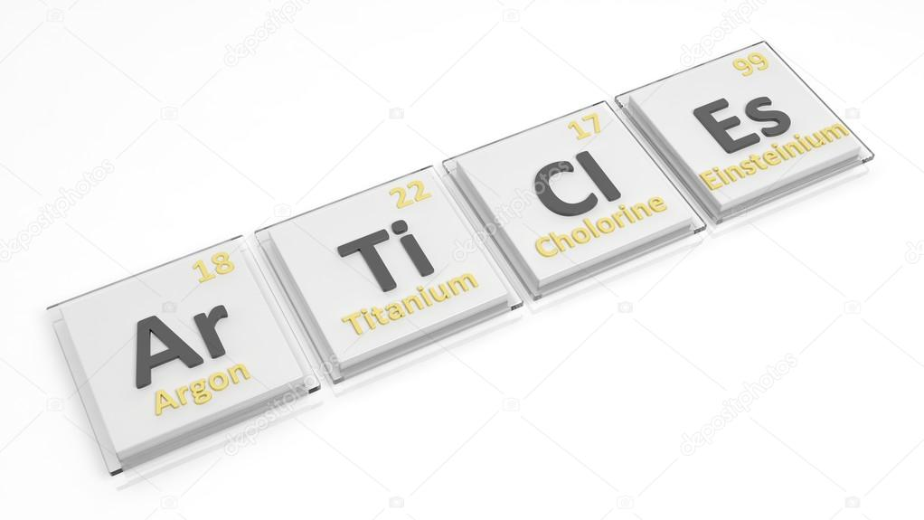 Periodic Table Of Elements Symbols Used To Form Word Articles
