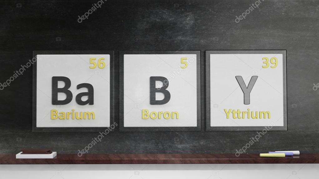 Periodic Table Of Elements Symbols Used To Form Word Baby On