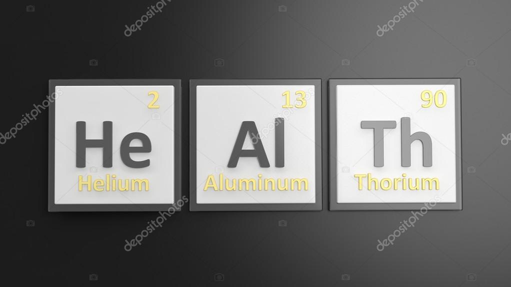 Periodensystem der Elemente Symbole verwendet, um Wort Form ...