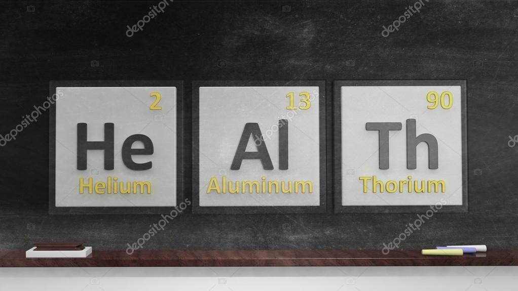 Periodic Table Of Elements Symbols Used To Form Word Health On