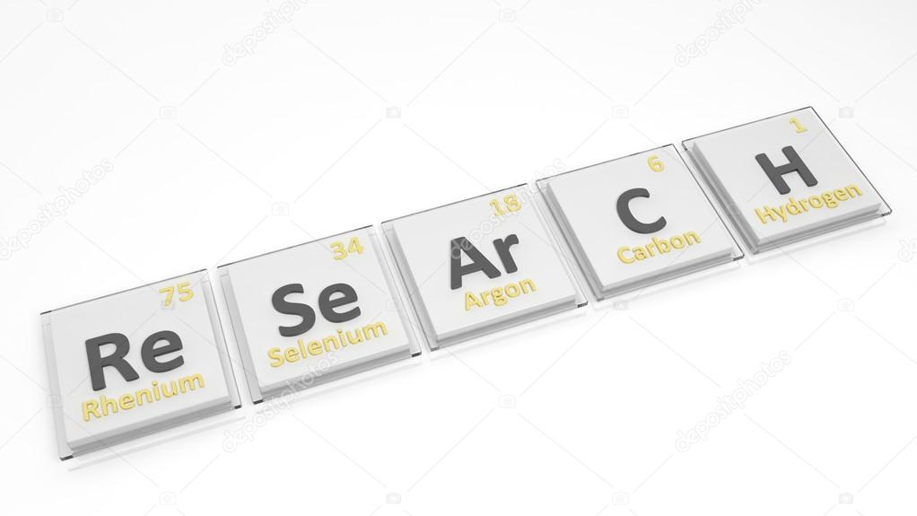 Periodic table of elements symbols used to form word research periodic table of elements symbols used to form word research isolated on white urtaz