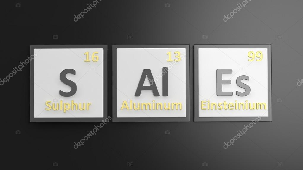 Periodic Table Of Elements Symbols Used To Form Word Sales Isolated