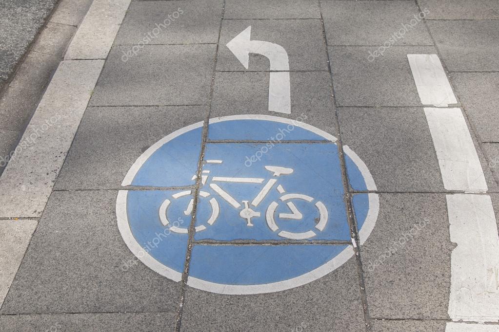 Bike Lane Symbol Bonn Stock Photo Kevers 100424436