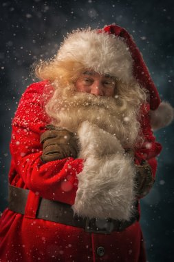 Santa Claus is feeling very cold