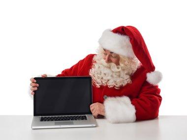Santa Claus Portrait with laptop