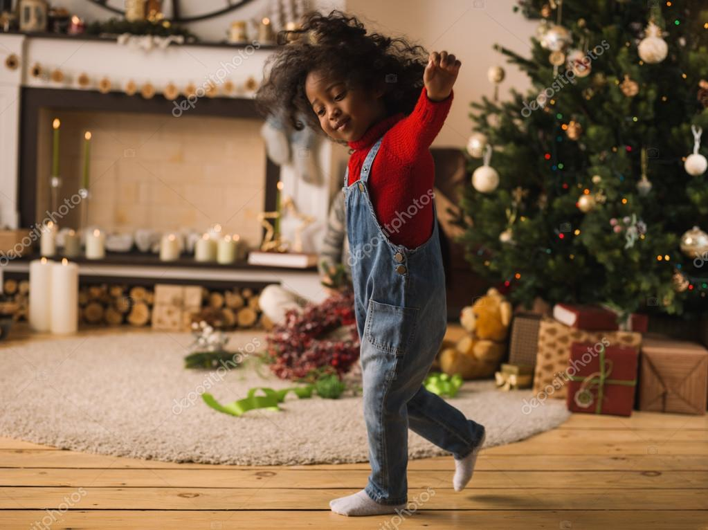 African Girl at  Christmas time