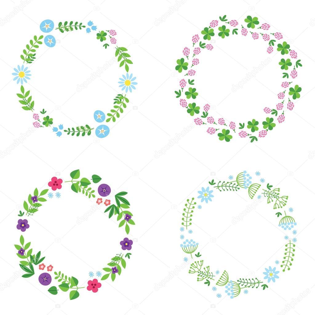Hermosos marcos de flores — Archivo Imágenes Vectoriales ...