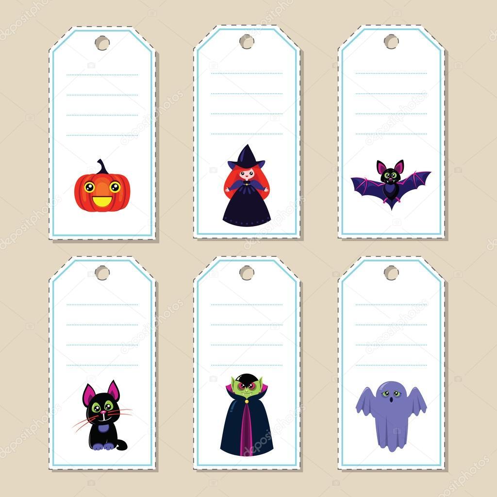 Halloween gift tags u2014 Stock Vector  sc 1 st  Depositphotos & Halloween gift tags u2014 Stock Vector © SlyBrowney #53255037