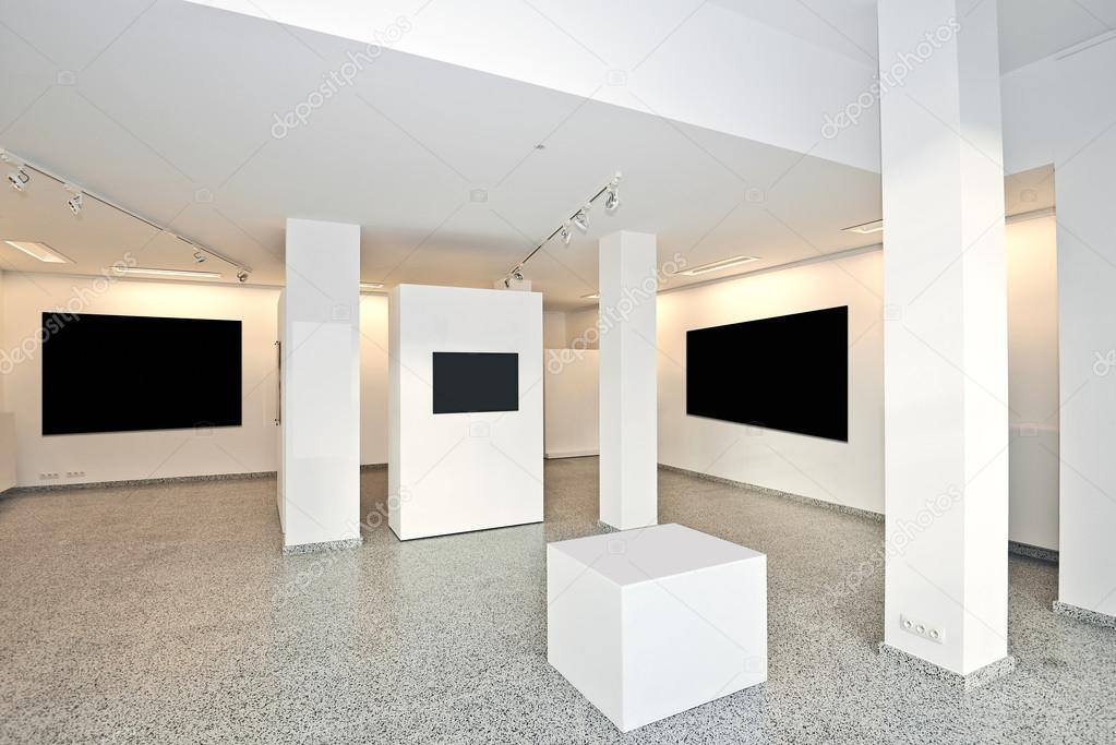 Galleria espositiva con illuminazione in stile museo u2014 foto stock