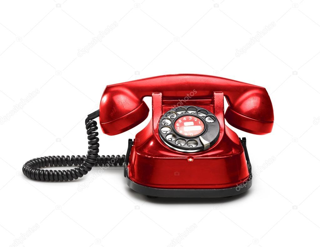 eine alte rote telefon mit w hlscheibe stockfoto bombaert 106839124. Black Bedroom Furniture Sets. Home Design Ideas