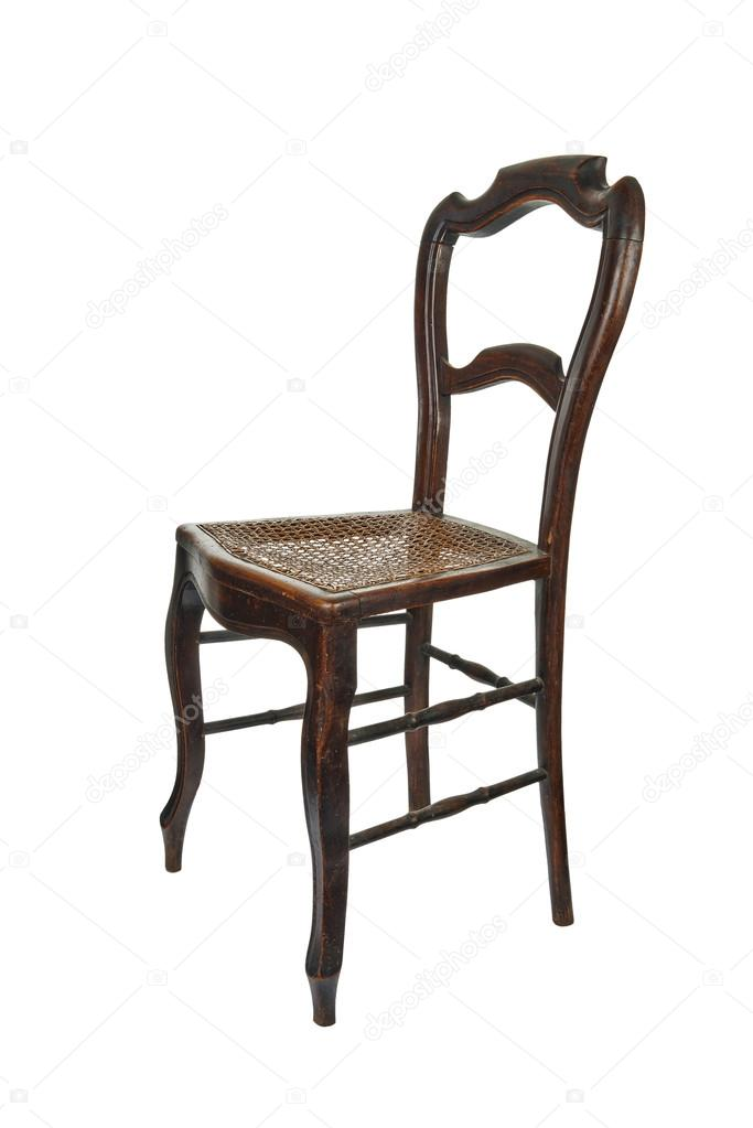 Antika ahşap sandalye - açık görünüm — Stok Foto ...