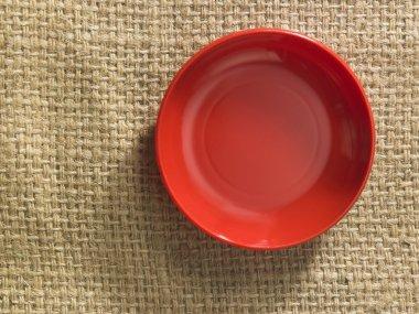 Empty ceramic saucer