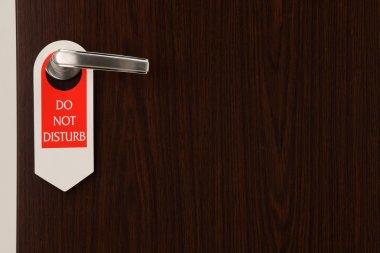 do not disturb door sign