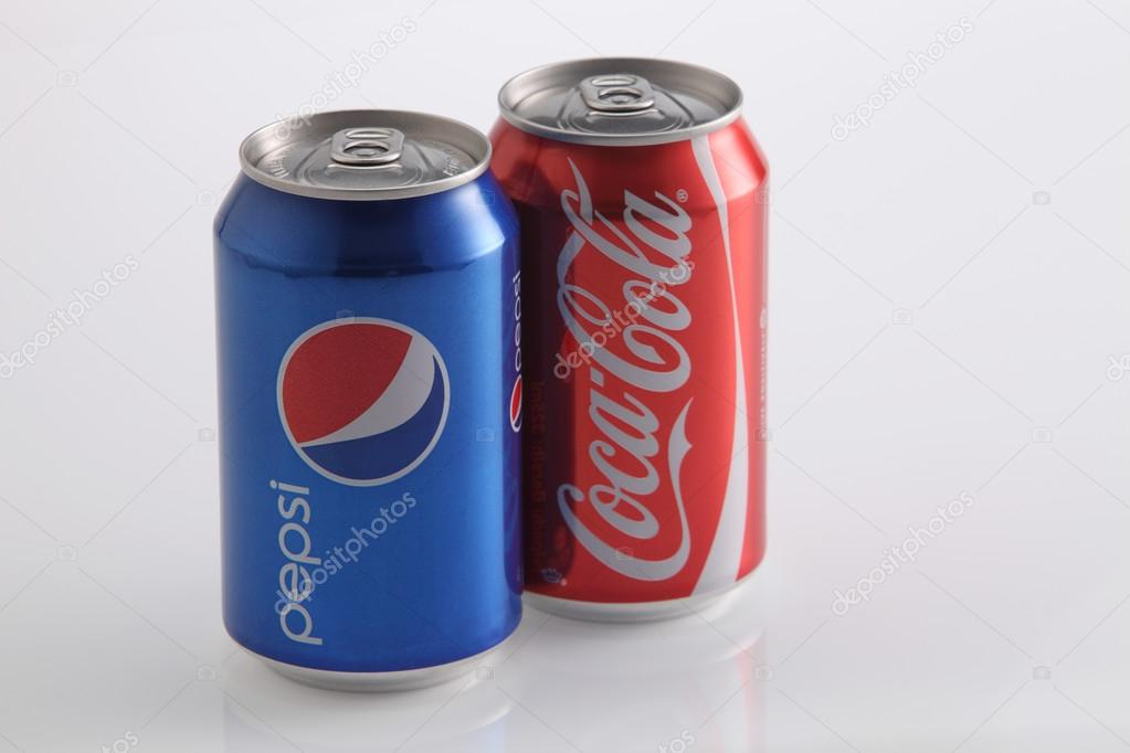 Pepsi and coke cans