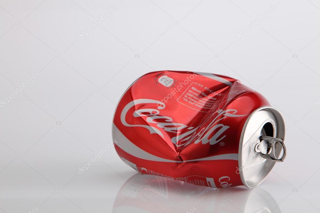 crumple coke can