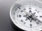 Close up white compass