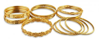 group of Golden bangles