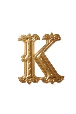 Golden alphabet Letter k
