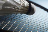 Fotografie Badmintonové rakety a míčku