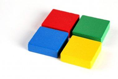 Colorful of  wooden blocks