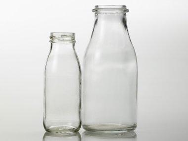 Two glass jars
