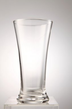 empty glass on the white