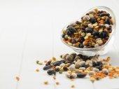 sortiment různých fazole