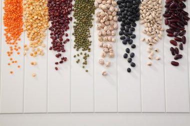 assortment of different beans
