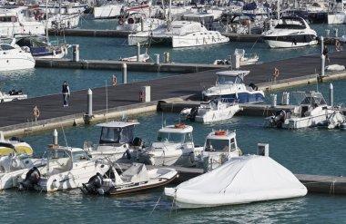 Italy, Sicily, Mediterranean sea, Marina di Ragusa; 2 March 2016, boats and luxury yachts in the marina - EDITORIAL