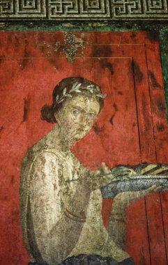 Italy, Pompei, original roman fresco